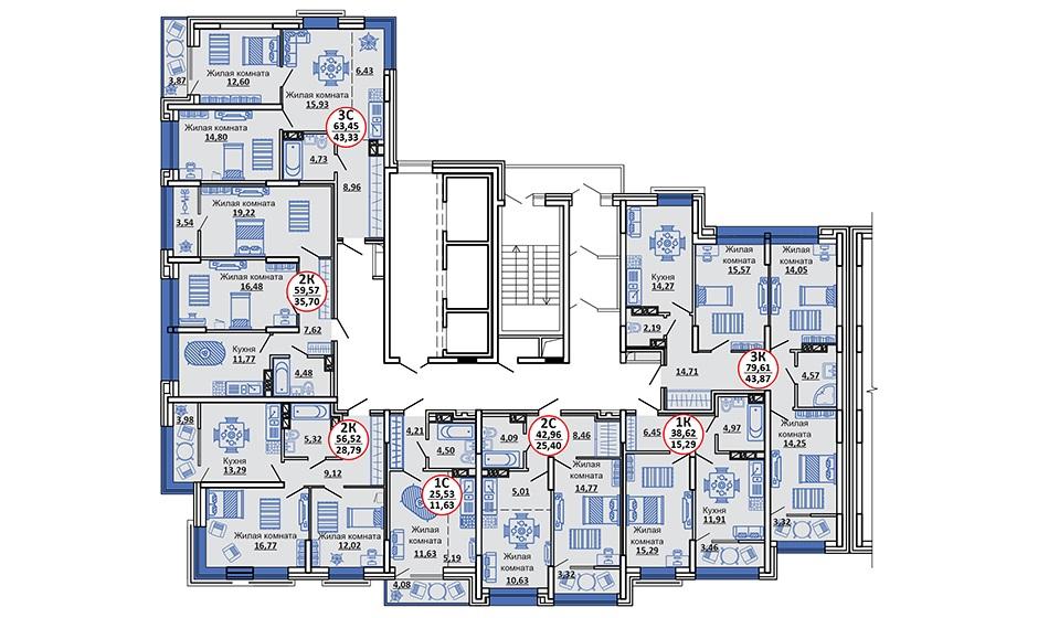 2-11 этажи
